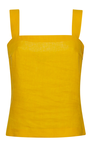 Medium rossella jardini yellow mixed ribbon crop top open sided bow shoulder
