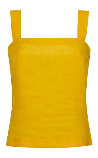 Medium rossella jardini yellow mixed ribbon crop top open sided bow shoulder