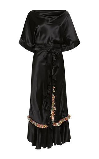 Medium rossella jardini black high waist embroidered tapestry dress