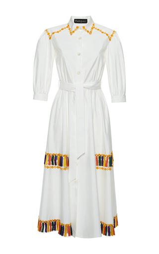 Medium rossella jardini white fringed chemise dress