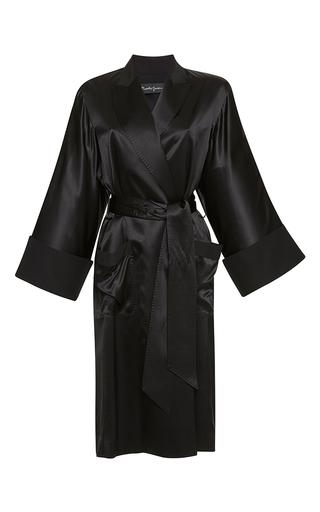Medium rossella jardini black kimono robe de chambre