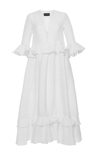 Medium rossella jardini white traditional folk oversized dress