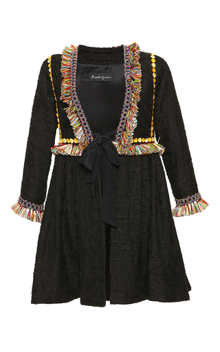 Medium rossella jardini black tapestry flare jacket