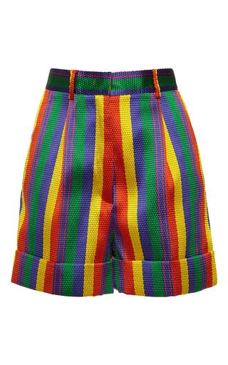 Medium rossella jardini stripe rainbow jacquard menswear shorts