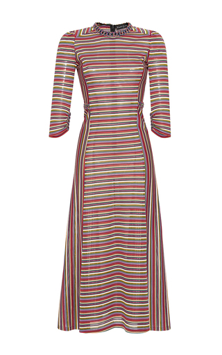 Medium rossella jardini multi multicolor chain tapestry midi dress