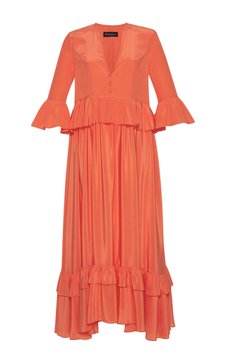 Medium rossella jardini orange traditional folk oversized dress 2