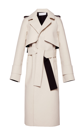 Medium wanda nylon white holly long wrap coat