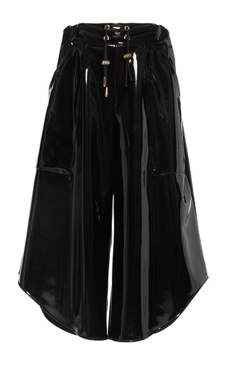 Medium wanda nylon black melody asymmetric culottes