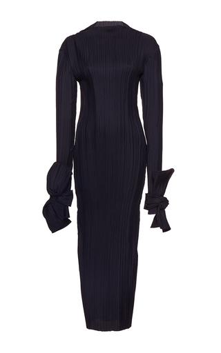 Medium wanda nylon black debbie long sleeve midi dress