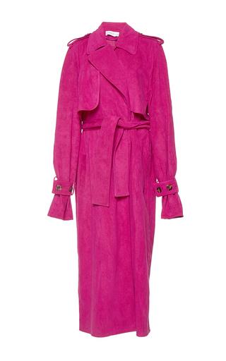 Medium wanda nylon pink jane suede effect trench