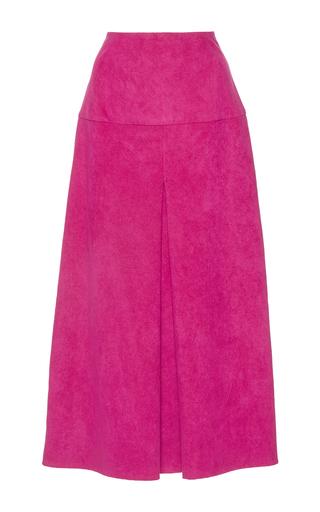 Medium wanda nylon pink donna suede effect skirt