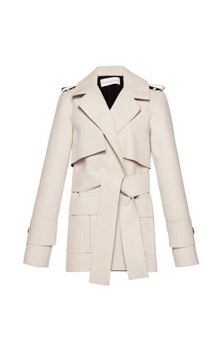 Medium wanda nylon white summer short coat