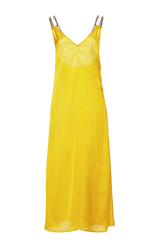 Medium wanda nylon yellow amy wide leg jumpsuit