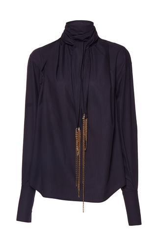 Medium wanda nylon black new joe bandana tie neck blouse