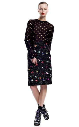 Medium suno multi beaded flowers pencil skirt