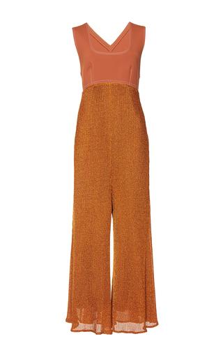 Medium wanda nylon metallic josefa metallic wide leg jumpsuit