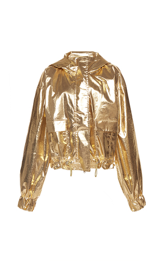 Medium wanda nylon gold dorothy hooded jacket