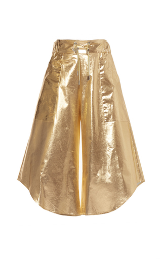 Medium wanda nylon gold melody asymmetric culottes 2