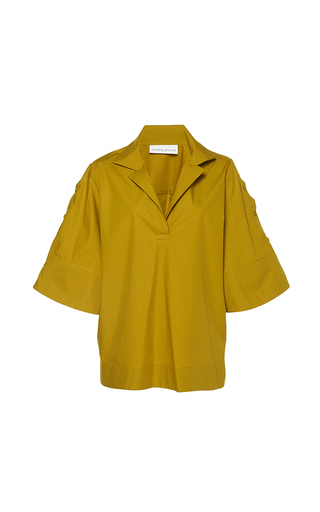 Medium wanda nylon yellow cathlyn oversized sleeve shirt 2