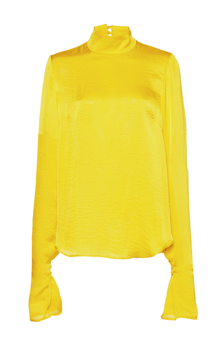 Medium wanda nylon yellow patti long sleeve top