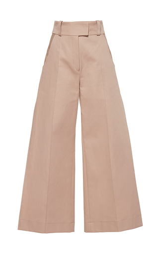 Medium wanda nylon khaki josy high waist wide leg pants 2
