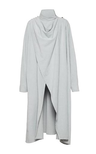 Medium wanda nylon blue sherry cape coat