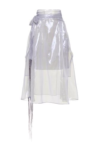 Medium wanda nylon white tilly sheer knee skirt