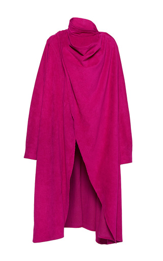 Medium wanda nylon pink sherry cape coat 2