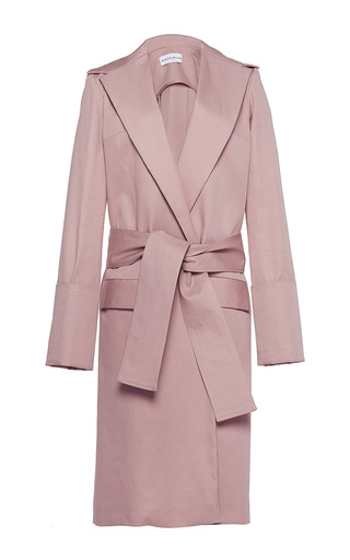 Medium wanda nylon nude camille long coat