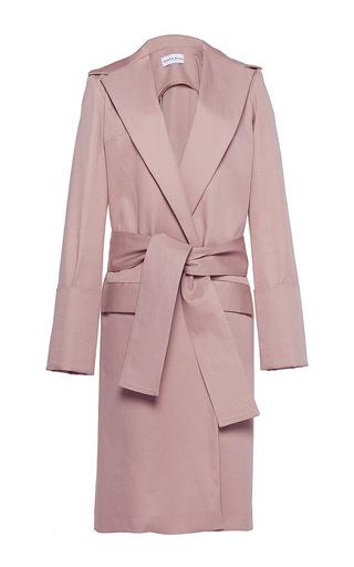 Medium wanda nylon nude camille long coat