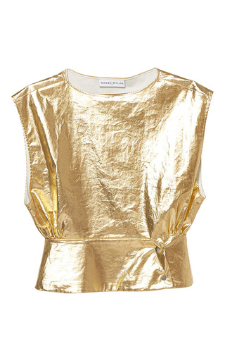 Medium wanda nylon gold dany metallic top