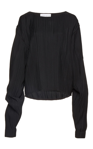 Medium wanda nylon black hailey long sleeve blouse