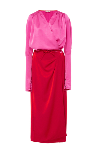 Medium attico multi gabriela satin robe