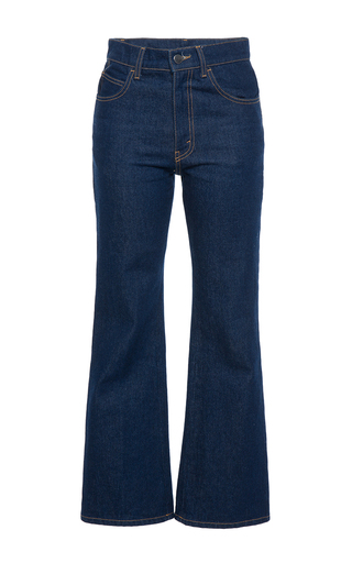 Medium attico blue rosa high waist jeans