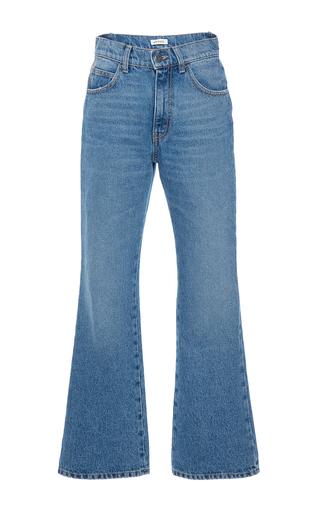 Medium attico blue rosa high waist stone washed denim pant
