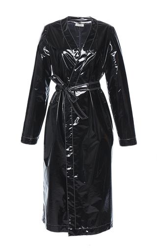 Medium attico black dara trench vinyl coat