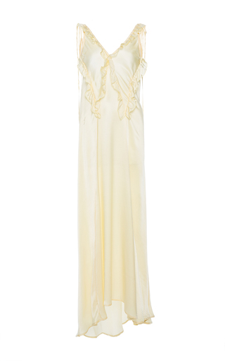 Medium attico yellow marisa silk sleep dress