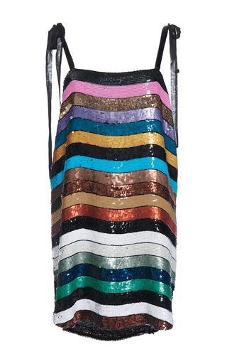 Medium attico stripe sabrina mini allover paillette dress