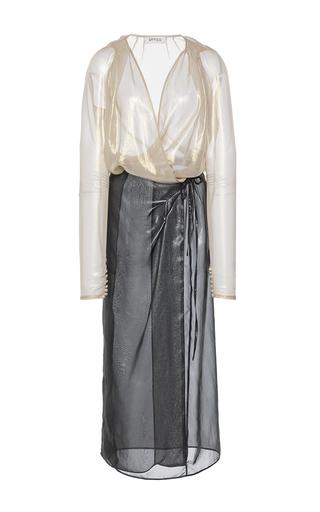 Medium attico multi gabriela georgette metal robe