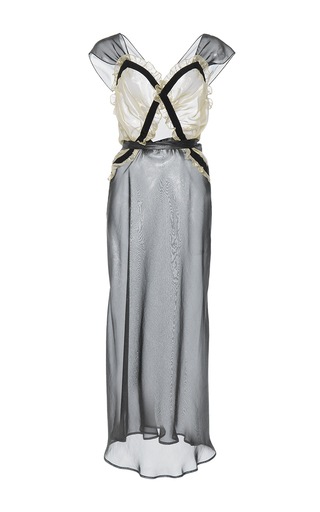 Medium attico multi juliana georgette silk metal sleep dress
