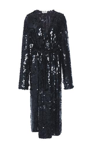 Medium attico black dara georgette robe paillettes