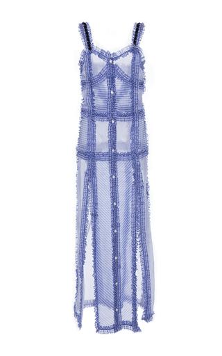 Medium attico blue margarita mix patchwork cotton dress