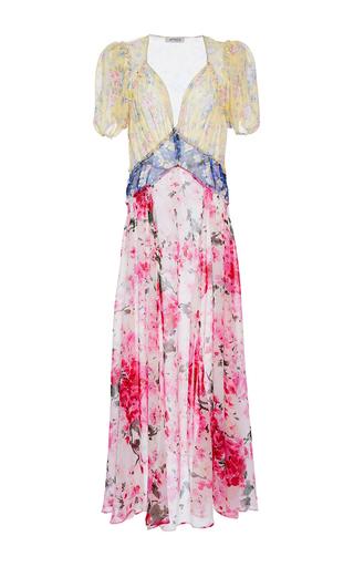 Medium attico print natalia mix georgette flower printed dress