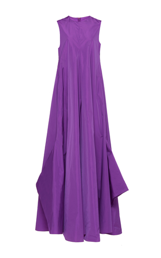 Medium maison rabih kayrouz purple sleeveless pleated long dress