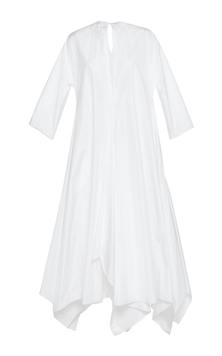 Medium maison rabih kayrouz white quarter sleeve handkerchief dress