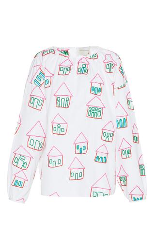 Medium maison rabih kayrouz white long sleeve embroidered house blouse