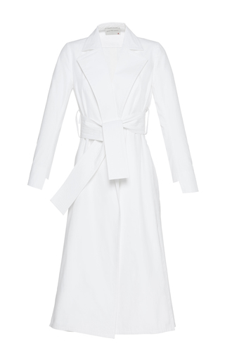 Medium maison rabih kayrouz white belted long coat