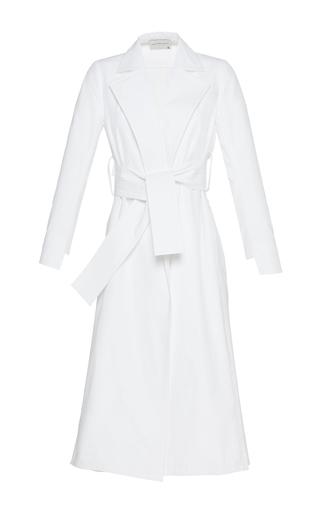 Medium maison rabih kayrouz white belted long coat