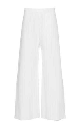 Medium maison rabih kayrouz white high rise wide leg trousers