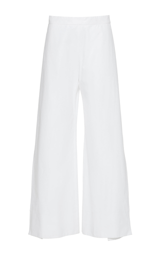 Medium maison rabih kayrouz white high rise wide leg trousers